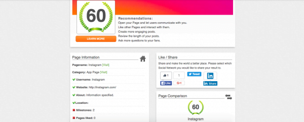 Free Competitor Social Media Analysis Tool for Facebook