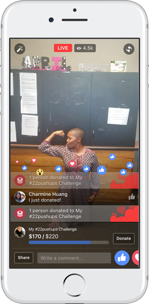 Introducing Donate button in Facebook Live - Facebook updates November 2016