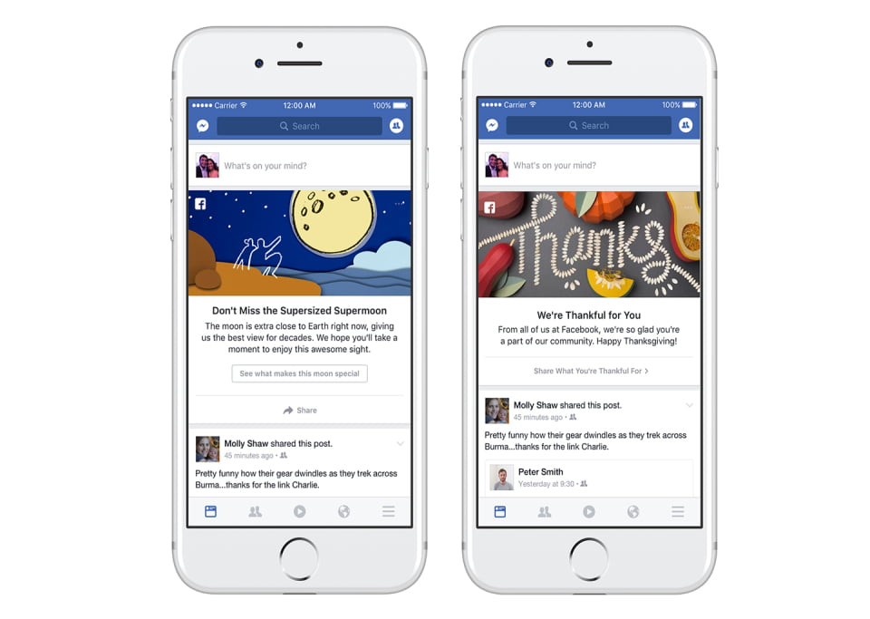Facebook introducing new ways to share and connect - Social Media News December 2016