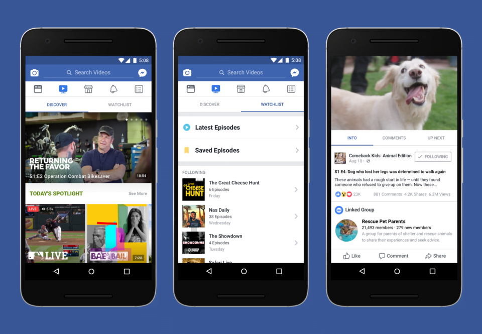 Facebook Introduces Watch