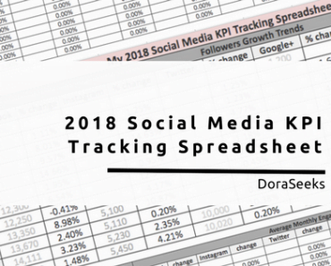 2018 Social Media SKPI spreadsheet