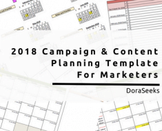 2018 Free Annual Marketing Campaign Planning Template