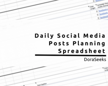How To Plan Your Daily Social Media Posts Fast, Easy and Efficiently! (Free Spreadsheet)