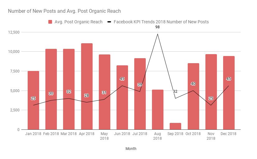 Social Media KPI Example Chart by DoraSeeks