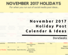 November 2017 Holiday Post Ideas & Calendar For Marketers
